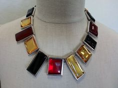 Vntg Rare Yves Saint Laurent Limited Edition Signed Numbered Statement Necklace #YvesSaintLaurent #Choker