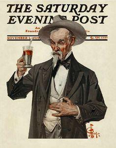 Henry Wadsworth Longfellow by Joseph Christian Leyendecker - The Saturday Evening Post - November 1, 1919.