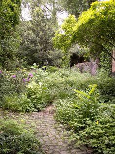 Beautiful small garden. Amazing Gardens, Beautiful Gardens, Garden Inspiration, Garden Ideas, Woodland Garden, Home Landscaping, Small Gardens, Shade Garden, Dream Garden