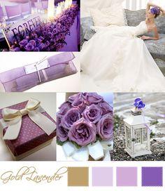 Wedding Moodboard | Gold lavender