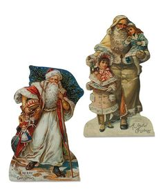 Look what I found on #zulily! Father Christmas Wall Décor - Set of Two #zulilyfinds