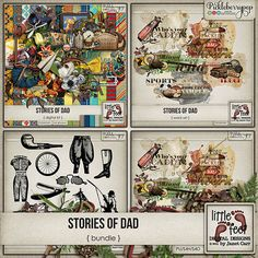 Stories Of Dad Digital Kit Bundle By Janet Carr