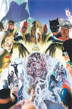 CRISIS ON MULTIPLE EARTHS, by Alex Ross.
