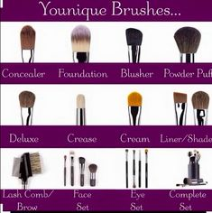 Younique brushes! Seriously guys I didn't realize how amazing high end brushes made a HUGE difference!! https://www.youniqueproducts.com/Amberglamfabulous/party/6032797/view