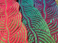 Ravelry: Project Gallery for Hosta Brioche Scarf pattern by Nancy Marchant