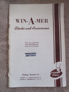 Waseca MN Minnesota vintage WIN-A-MER Stocks & Accessories gun gunsmith catalog
