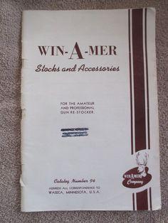 Waseca MN Minnesota vintage WIN-A-MER Stocks & Accessories gun gunsmith catalog