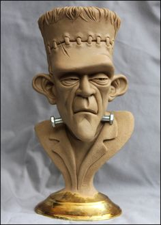 Frankenstein's Monster-bust final clay by RandyHand.
