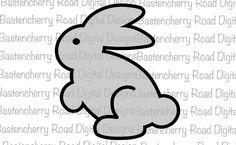 Easter svg, Easter Bunny svg, Bunny svg, Rabbit svg, Cut File, Cricut, Silhouette, Instant Download, svg Design, Vinyl, svg by BastencherryRd on Etsy