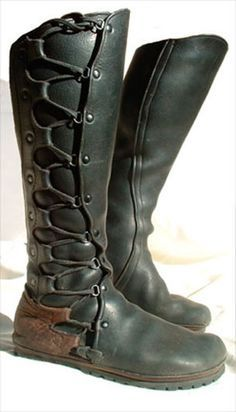 Wow boots primitive and sophisticated at the same time green leather boot boots female elf ranger rogue thief cosplay costume LARP LRP fashion equipment gear magic item | Create your own roleplaying game material w/ RPG Bard: www.rpgbard.com | Writing inspiration for Dungeons and Dragons DND D&D Pathfinder PFRPG Warhammer 40k Star Wars Shadowrun Call of Cthulhu Lord of the Rings LoTR + d20 fantasy science fiction scifi horror design | Not Trusty Sword art: click artwork for source