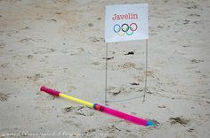 Javelin:  i happened to find this water shooter at the dollar store that served as a safe javelin: