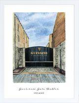 The Guinness Gate, Dublin, Ireland archival print Guinness Brewery, Vibrant Colors, Colours, Dublin Ireland, Beautiful Islands, Gouache, Watercolor Paper, Childhood Memories, Gate