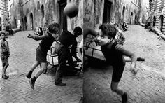 Street football, Rome by William Klein
