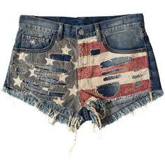 Denim & Supply Ralph Lauren Gooding Shorts ($210) found on Polyvore