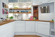 Cozinhas pequenas, compactas e integradas