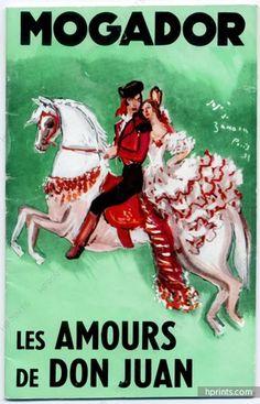 """Mogador (Theatre) 1955 """"Les Amours de Don juan"""", José de Zamora, Marcel Merkès, Paulette Merval"""
