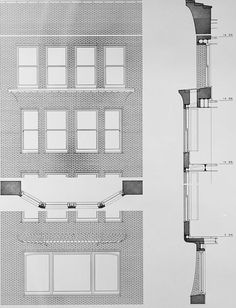 Mondanock 1964 Elevation Plan and Section of Typical Bay - Monadnock Building - Wikipedia, the free encyclopedia