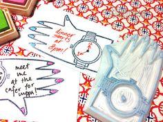 ver sello de goma. Talladas a mano del sello de goma. ¿QUÉ hora es el sello. sello Educativo. Para La Madre y Los Hijos.