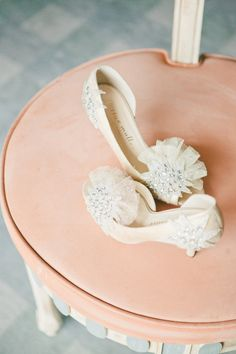 Pretty peep toes. Photography by onelove-photo.com, Shoes by bhldn.com