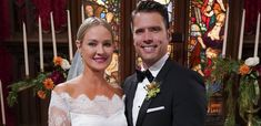 Behind-The-Scenes Sneak Peek Of Nick And Sharon's Wedding On 'The Young And The Restless'. Sharon Case reveals that Adam returns to Genoa City to crash the wedding, but is she telling the truth? Chad And Abby, Scott And Allison, Joshua Morrow, Sharon Case, Stiles And Lydia, Young And The Restless, Genoa, Soaps, Behind The Scenes