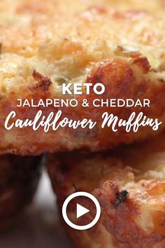 Keto Jalapeno & Cheddar Cauliflower Muffins by I Breathe I'm Hungry. This easy recipe is Low carb, gluten free, nut free, and Atkins friendly – even the kids will love them! Pin made by GetSnackable. Ketogenic Recipes, Low Carb Recipes, Diet Recipes, Cooking Recipes, Grill Recipes, Lunch Recipes, Keto Apple Recipes, Gluten Free Recipes Videos, Paleo Fall Recipes
