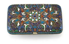 A cloisonné cigarette case from Moscow,