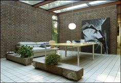 """Watch: Renowned Danish Architect Knud Holscher On Living In A """"Strange Box"""" Modern Interior Design, Interior And Exterior, Outdoor Furniture Sets, Outdoor Decor, Skylight, Scandinavian Design, House Tours, Outdoor Living, Living Spaces"""