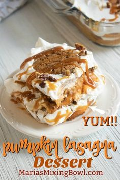 If youre looking for a delicious pumpkin dessert with layers youre going to love this delicious Pumpkin Lasagna Dessert Recipe! If youre looking for a delicious pumpkin dessert with layers youre going to love this delicious Pumpkin Lasagna Dessert Recipe! Easy No Bake Desserts, Homemade Desserts, Delicious Desserts, Dessert Recipes, Yummy Food, Pumpkin Lasagna, Easy Lasagna Recipe, Pumpkin Pudding, Peanut Butter Desserts