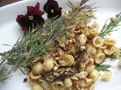 Rosemary Walnut Pasta with Eggplant from Spinach Tiger