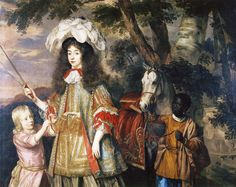 Jan Mijtens, c. 1665 - - - Maria, Princess of Orange, with Hendrik van Zuijlestein and a servant