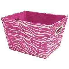 Pink Zebra Storage Box with Handles | Shop Hobby Lobby