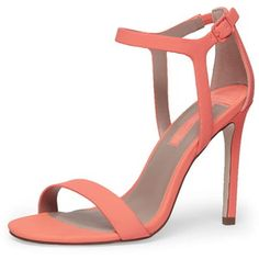 Dorothy Perkins Wide Fit Coral minimal high sandals