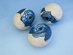 Sea turtle egg-sea turtle hatchlings-hand painted rock-pet