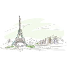 Eiffel Tower Wallpaper found on Polyvore