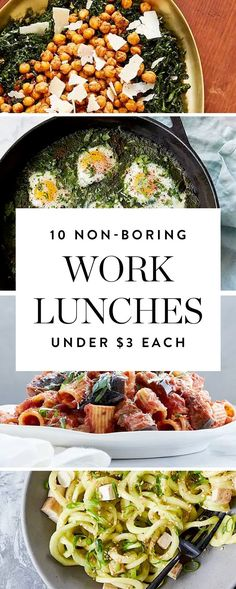 Here are 10 easy work lunches that cost next to nothing but don't sacrifice flavor or fun. They're also a breeze to make, so win-win.