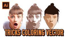 Basic Tutorial Tricks Coloring Vector Portraits | Adobe Illustrator