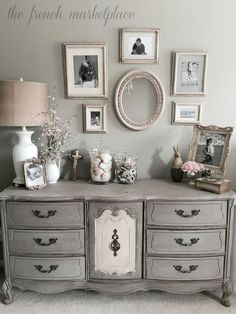 Musings From A French Cottage: Master Bedroom Makeover  I Like The Gray  Furniture And The Gray Walls