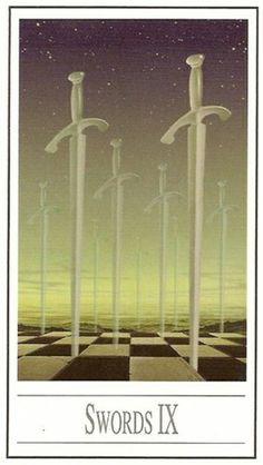9 d'épées - Tarot Ananda par Ananda Kurt Pilz