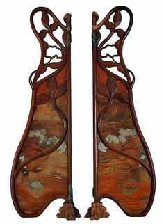Paire de PANNEAUX latéraux de miroir, de forme mou - by Hôtel des Ventes d'Enghien.... Butterfly Gates