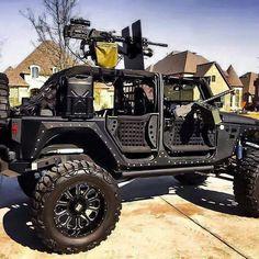 Combat ready Jeep
