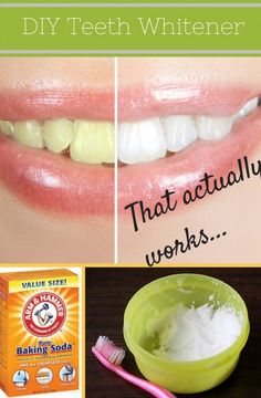 Baking Soda Teeth Whitener Tutorial - make your own at home.