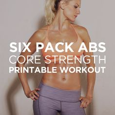 ♛ Six Pack Abs Core Strength Workout Routine for Men & Women – Want to get that perfect six pack? Try this comprehensive abdominal gym workout routine that will hit your upper and lower abs as well as obliques for a perfectly toned core.