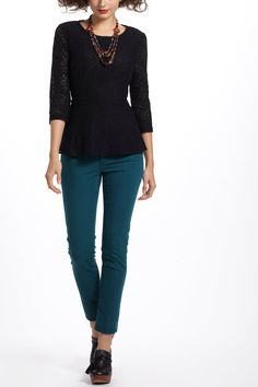 Lace Peplum Blouse From Anthropologie