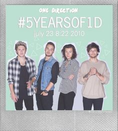 #5YearsOfOne Direction // made by @Tati1D5