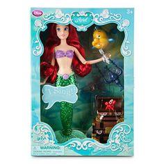 "Disney's - The Little Mermaid 14"" Ariel Singing & Talking Doll Playset"