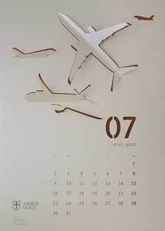 """Cut Out"" Wall Calendar on Behance"