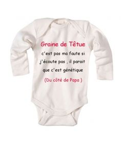 "body bébé personnalisé ""c'est génétique"" Plus Funny Shirts For Men, Funny Tshirts, Funny Boy, Girl Humor, Boys Humor, Kids And Parenting, Mens Tees, Onesies, Tee Shirts"