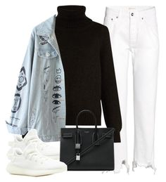 """""""Sin título #3597"""" by camilae97 ❤ liked on Polyvore featuring H&M, Nili Lotan and Yves Saint Laurent"""