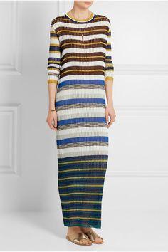 9dce3ea1682 Missoni - Metallic-striped crochet-knit maxi dress
