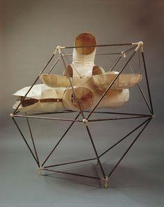 Pascal Häusermann - Construction spatiale, 1970 Maquette Métal, résine polyester 143.5 x 155 x 122 cm Donation Pascal Häusermann